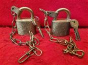 2 Vintage WWII US Military Padlock American Waterbury Locks 2 KEYS US SET LOCKER